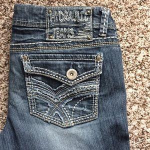 Hydraulic flare leg jeans